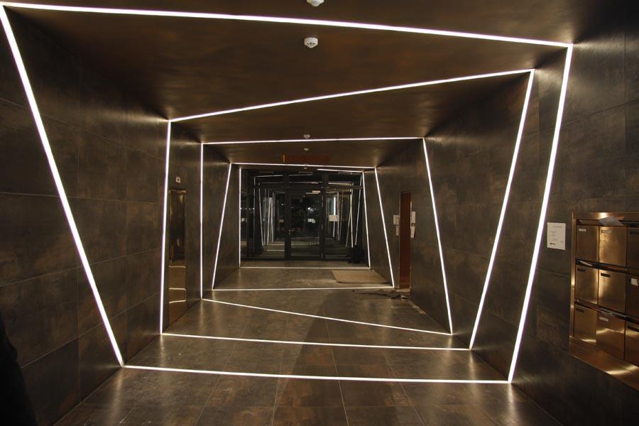 Leuchtfolie Leds Led Technik Rgb Led Stufenbeleuchtung